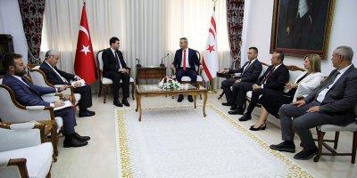 Demokrat Parti Genel Başkanı Gültekin Uysal, KKTC'ni ziyaret etti