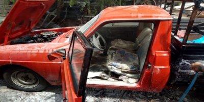 Nallıhan'a araç yangını büyümeden söndürüldü