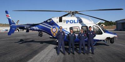 Emniyet'ten helikopter ile kontrol