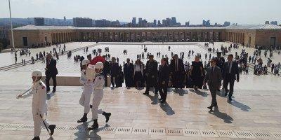 ABD'nin yeni Büyükelçisi David Satterfield Ata'nın huzurunda