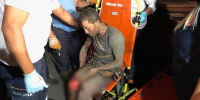 Trafoya giren kablo hırsızı ölümden döndü