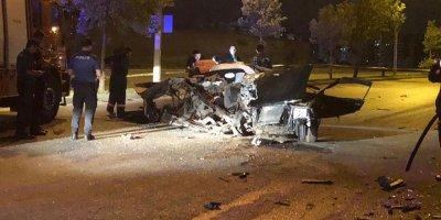 Ankara'da driftçiler kaza yaptı: 2 ölü
