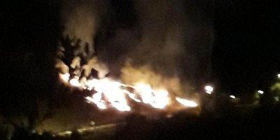 Nallıhan'da havai fişekten yangın çıktı