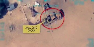 Teröristlerin uçaksavar monteli aracı vuruldu