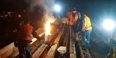 Ankara metro rayları yenileniyor