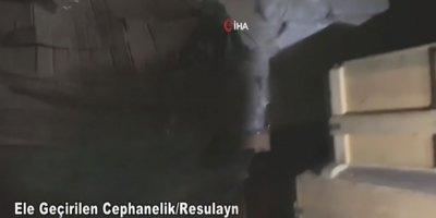 Rasulayn'da büyük bir cephanelik ele geçirildi
