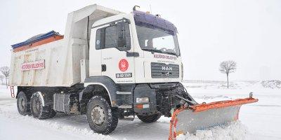 Keçiören'de karla mücadele aralıksız sürüyor