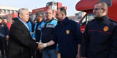Büyükşehir arama kurtarma ekipleri Ankara'da