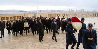 GGYD Yeni Yönetimi Anıtkabir'de