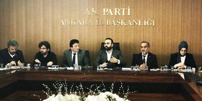 AK Parti Ankara Şehit Aileleri ve Gaziler Komisyonu toplandı