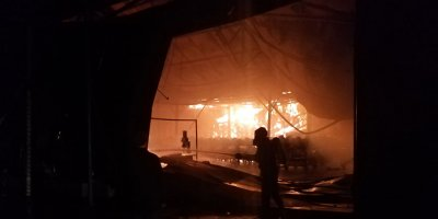 Akyurt'ta fabrika yangını