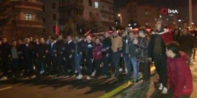 Başkentliler İdlib şehidi için yürüdü