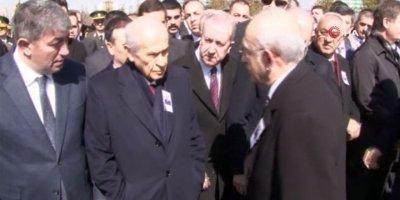 Bahçeli şehit cenazesinde Kılıçdaroğlu ile tokalaşmadı