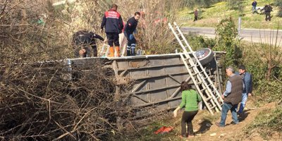 Kadınlar Günü gezisi dönüşü feci kaza: 34 yaralı