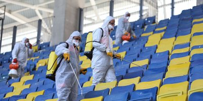Eryaman Stadyumunda koronavirüs önlemi