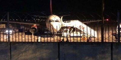 Bağdat'tan gelen uçak Ankara'da karantinaya alındı