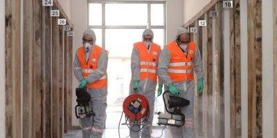 Altındağ'da tarihi mekanlar dezenfekte edildi
