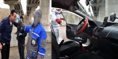 Şehirlerarası yolculuğa dezenfekte molası