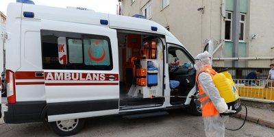 Altındağ'da ambulanslara korona önlemi
