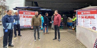 Pursaklar'da Başkan Çetin denetime çıktı