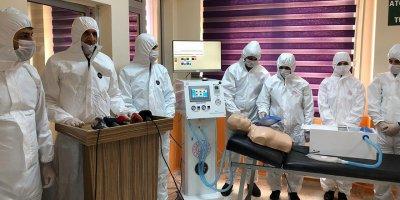 Teknik lisede solunum cihazı üretildi