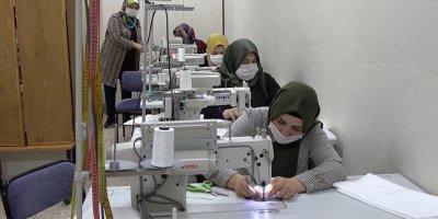 Kırıkkaleli kadınlardan maske desteği