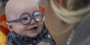 Annesini ilk kez gören bebeğin mutluluğu!