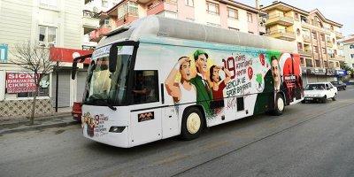 Mamak'ta 19 Mayıs Otobüsü gençler için dolaştı