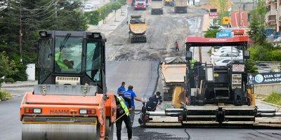 Ankara Büyükşehir'den yoğun asfalt mesaisi