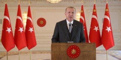 """Cumhurbaşkanı Erdoğan: """"Türkiye 2020'de yüzde 4,5 büyüdü"""""""