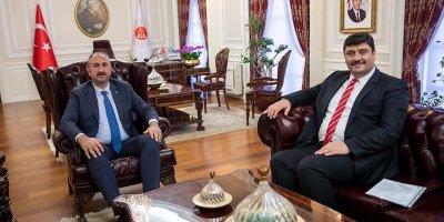 Başkan Oğuz'dan Bakan Gül'e ziyaret