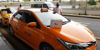 Büyükşehir'den AŞTİ Taksi Durağı'na hijyenik destek