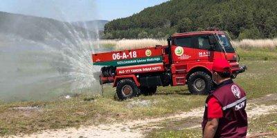Yangında kullanılan kara araçları için yangına müdahale eğitimi