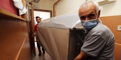 Yenimahalle'de sel mağdurlarına destek