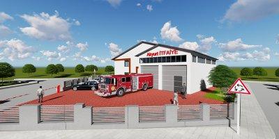 Akyurt'ta yeni itfaiye hizmet binası geliyor