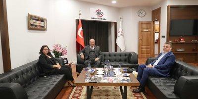 DTİK Başkanı Taşkın'dan ATO Başkanı Baran'a ziyaret