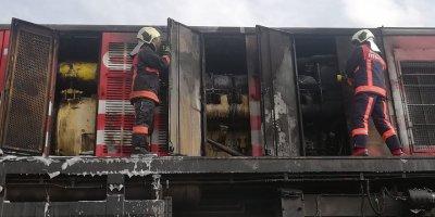 Polatlı'da yük treninde çıkan yangın söndürüldü