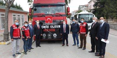 Sincan'dan İzmir'e yardım tırı