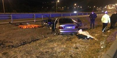 Ankara'da feci kaza: 2 ölü, 5 yaralı