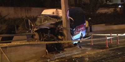 Ankara'da dolmuş kazası: 1 ölü