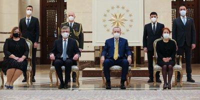 Cumhurbaşkanı Erdoğan, Slovakya Büyükelçisini kabul etti