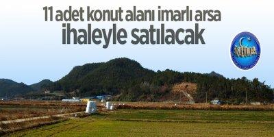 Konya'da konut alanı imarlı arsa ihaleyle satılacak