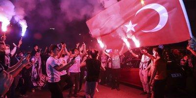 Ankara'da Beşiktaş'ın şampiyonluk sevinci