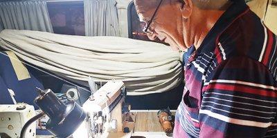 70 yaşındaki Mehmet usta asırlık makineleri tamir ediyor
