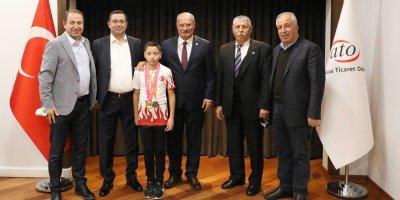 Baran, Dünya Pentatlon Şampiyonuyla Görüştü