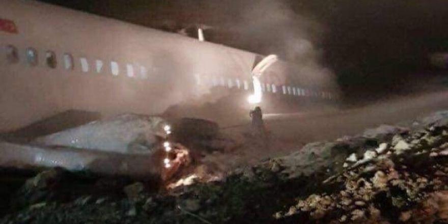 Ankara uçağı pistten çıktı!