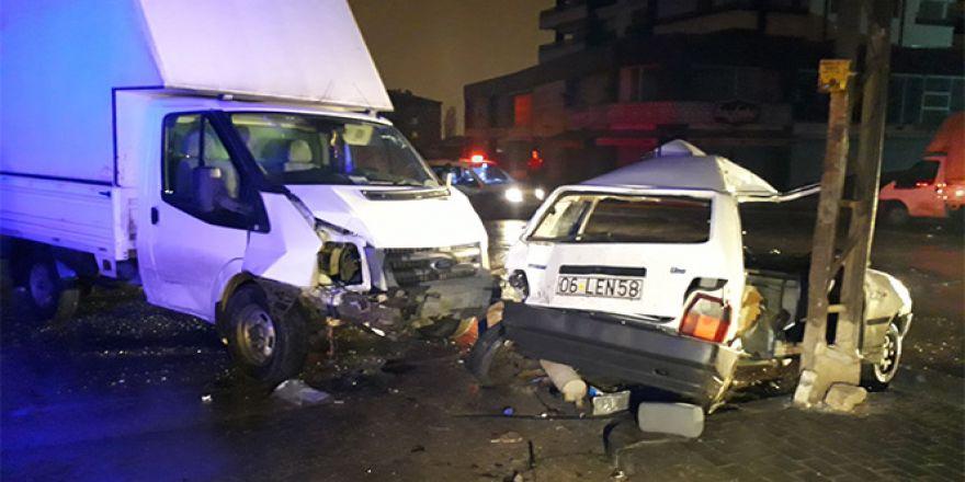Ankara'da trafik kazası: 7 yaralı