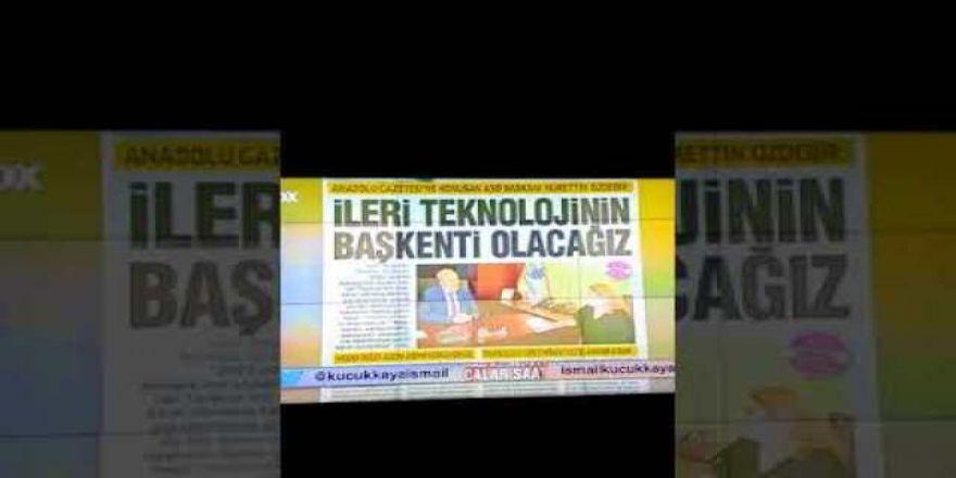 21 02 2018 tarihli Anadolu Gazetesi Fox Tv'de Manşetin Okunma Anı