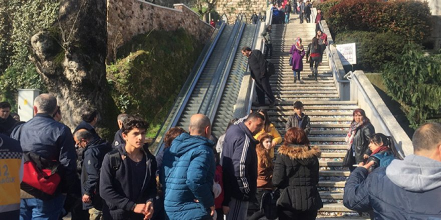 Yürüyen merdivende can pazarı: 8 yaralı