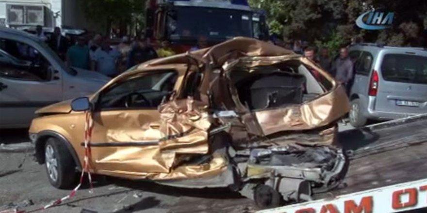 Ankara'da feci kaza!14 aracı ezdi